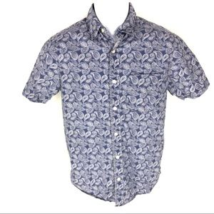 US Polo Assn Slim Fit Button Paisley Shirt S SS